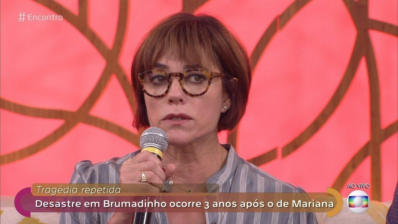 Christiane Torloni lamenta desastre em Brumadinho na Globo
