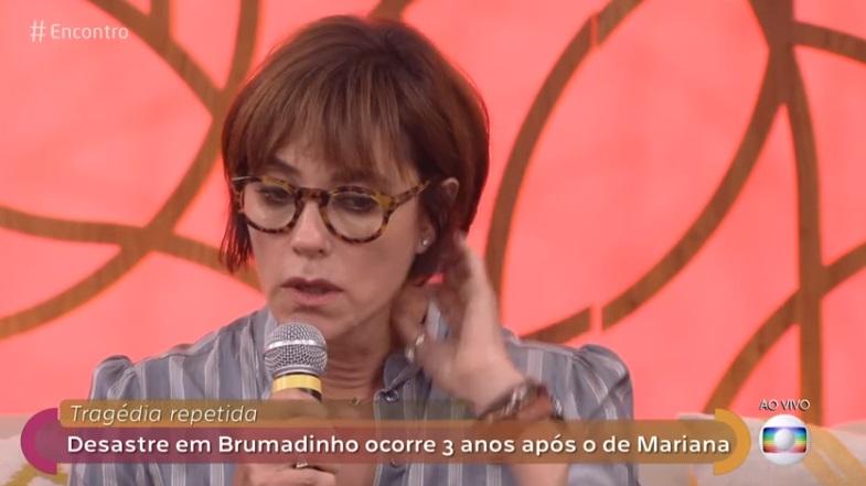 Christiane Torloni triste no Encontro