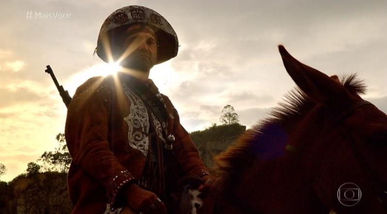 Domingos Montagner como Herculano em Cordel Encantado (Foto: Reprodução/Globo)