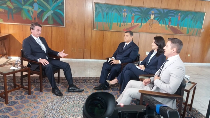 O presidente Jair Bolsonaro em entrevista ao SBT (Foto: Divulgação/SBT)