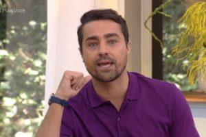 Ricardo Pereira emocionado no Mais Você da Globo