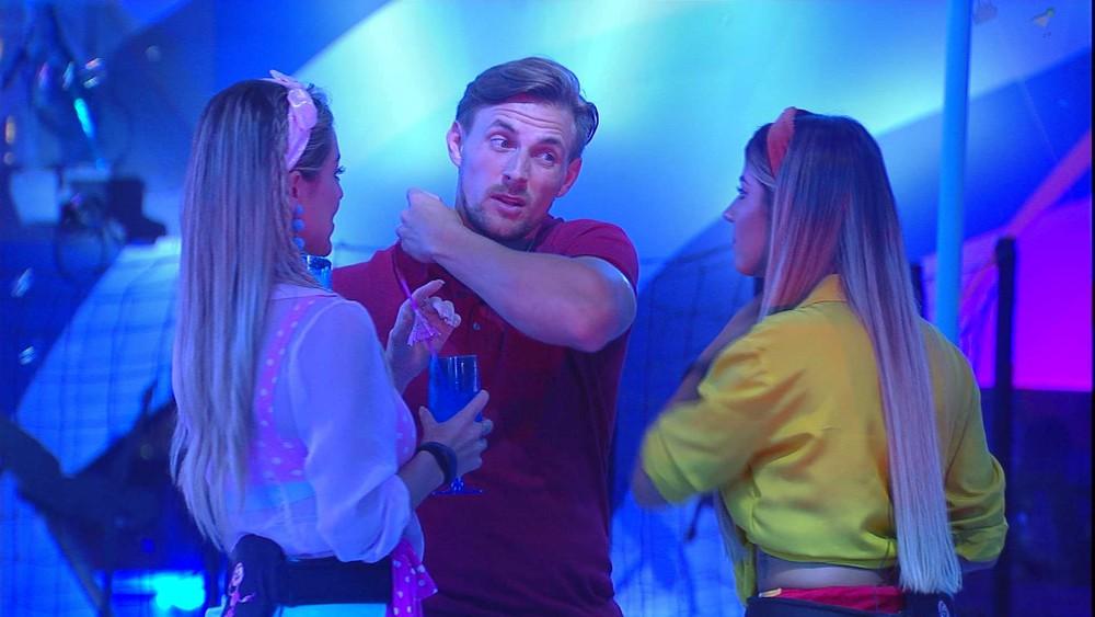 Diego, Paula e Hariany em festa do BBB19 (Foto: Divulgação)