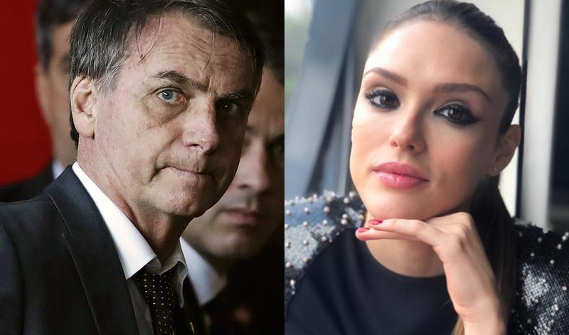 Bolsonaro e Isabelle Drummond (Foto: Reprodução)