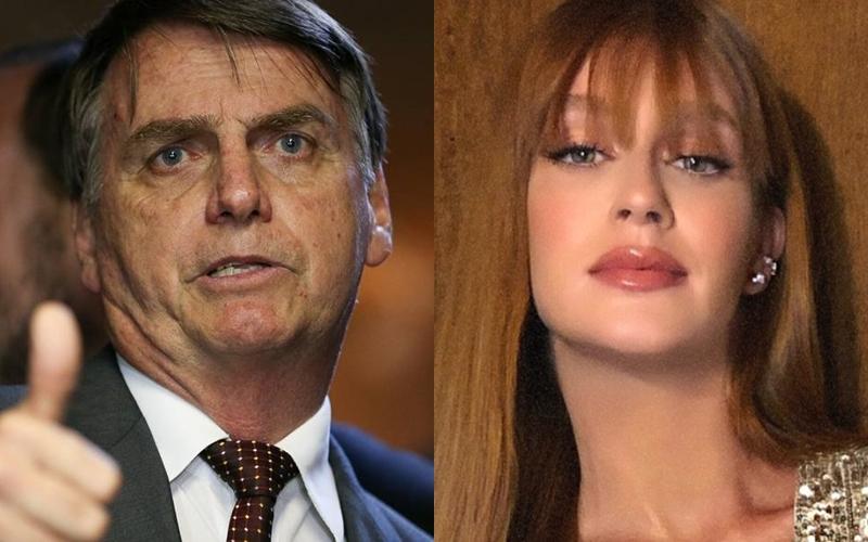 Bolsonaro e Marina Ruy Barbosa (Foto: Reprodução)