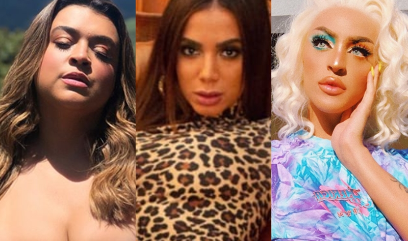 Preta Gil, Anitta e Pabllo Vittar: Rivalidade feminina (Foto: Reprodução)