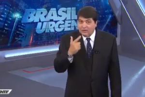 Datena durante o Brasil Urgente (Foto: Reprodução/Band)
