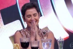 A atriz Ivete Sangalo se emocionou no Domingão do Faustão (Foto: Reprodução)