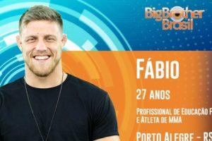 """Fábio Alano, sexto participante anunciado no """"BBB 19"""" Imagem: Reprodução/GShow"""