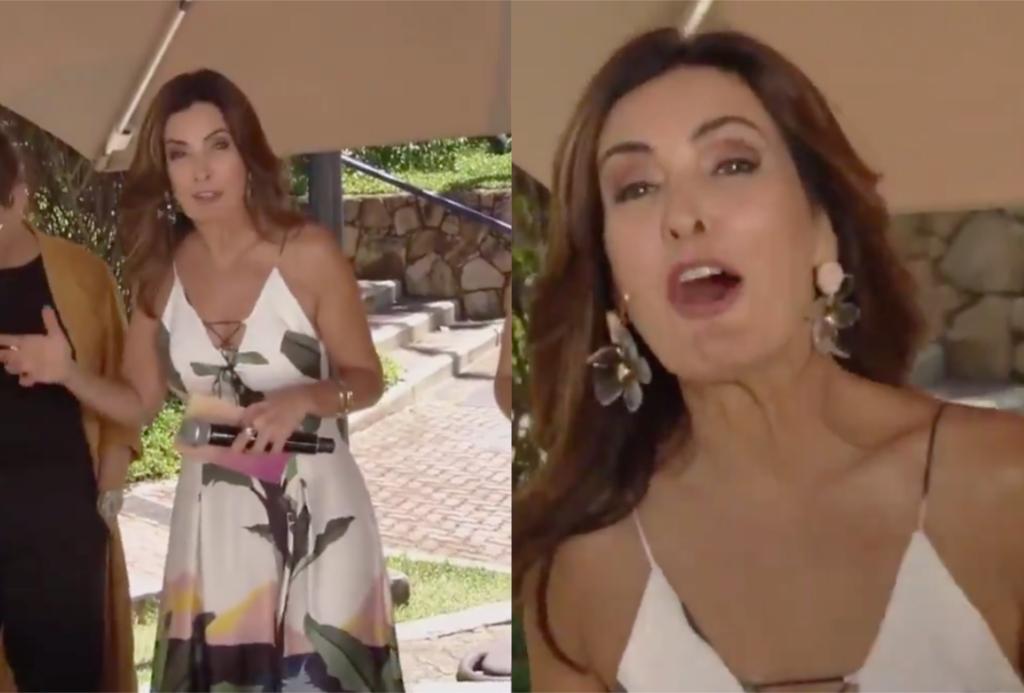 Fátima Bernardes cometeu gafe ao vivo no Encontro da Globo (Foto reprodução)
