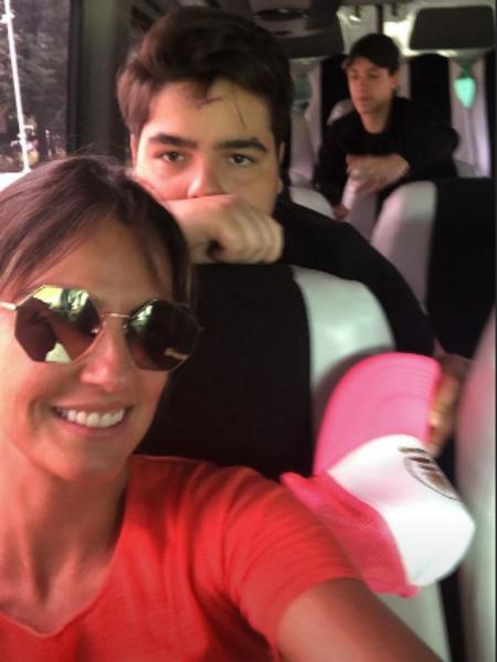 Luciana Cardoso e o filho mais velho de Faustão, João Guilherme (Foto: Reprodução/ Instagram)