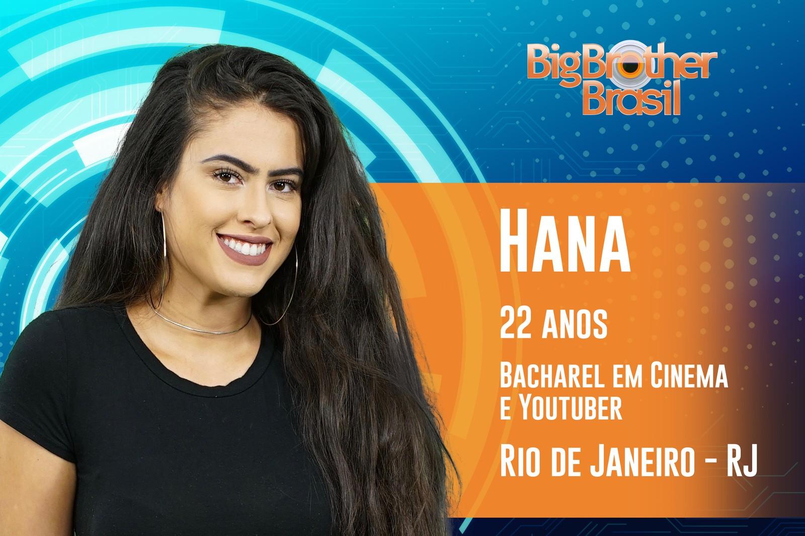 Hana estará no BBB19 (Foto: Reprodução)