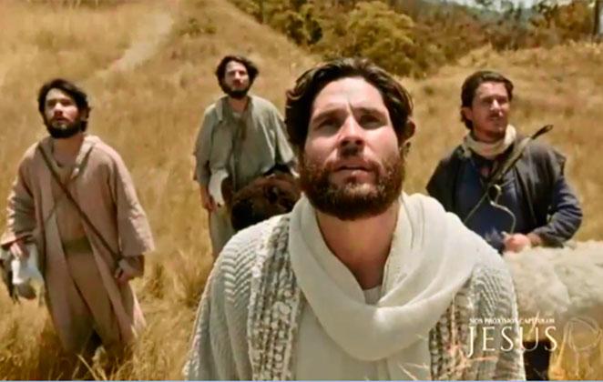 Cena da novela Jesus, exibida pela Record. (Foto: Reprodução)