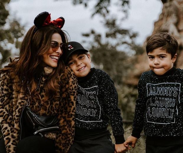 Juliana Paes e os filhos (Foto: Divulgação)