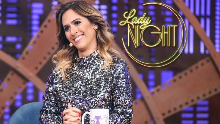 Prêmio TV Foco Tatá Werneck à frente de seu Lady Night na Globo (Foto: Reprodução)