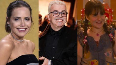 Letícia Colin, Walcyr Carrasco e Sophia Valverde (Fotos: Divulgação/Rodrigo Barbosa e Reprodução/SBT)