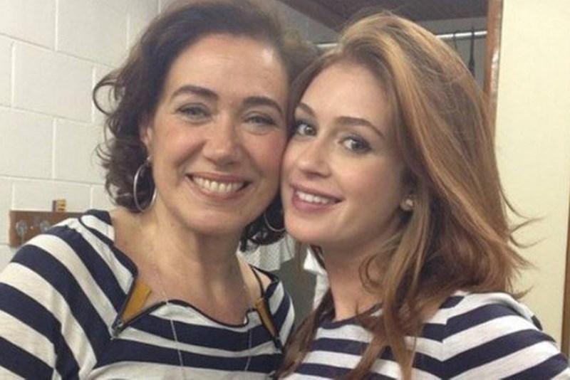 Lília Cabral ao lado de Marina Ruy Barbosa (Foto: Reprodução)