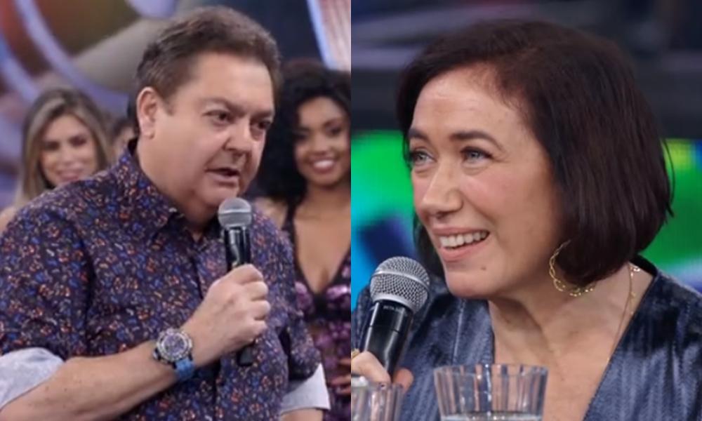 Faustão e Lilia Cabral na edição passada do programa (Foto: Reprodução)