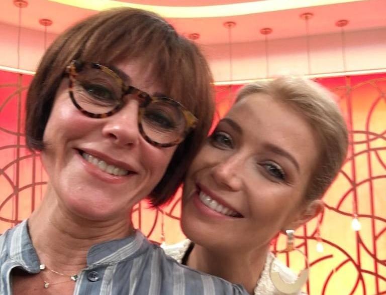 Luiza Possi e Christiane Torloni no Encontro da Globo