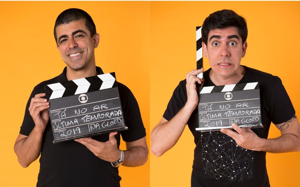 Marcius Melhem e Marcelo Adnet no Tá no Ar (Foto: Globo/Estevam Avellar)