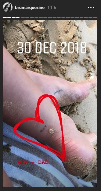 Bruna Marquezine exibe nova tatuagem (Foto: Divulgação)