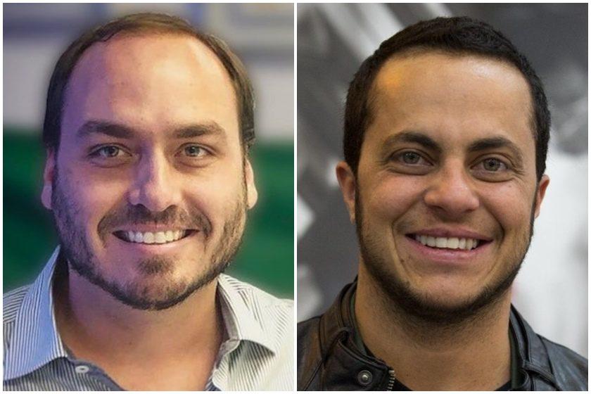 Carlos Bolsonaro e Thammy Miranda (Foto: Montagem)