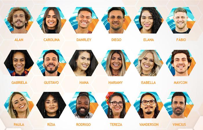 Os participantes do BBB19 (Foto: Divulgação/Globo)