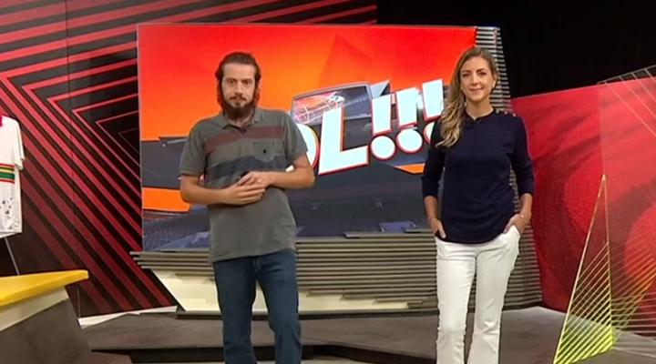 Comandado por Lucas Strabko e Domitila Becker, programa É Gol será cancelado pelo SporTV. (Foto: Reprodução)