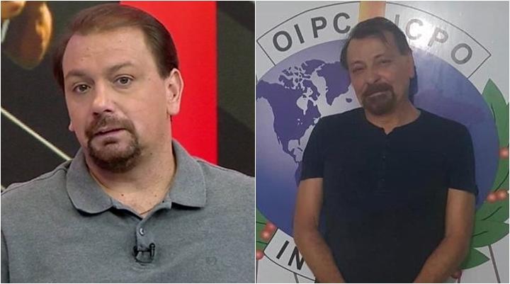 Comentarista Alê Oliveira é comparado a Cesare Battisti. (Foto: Montagem/Reprodução)