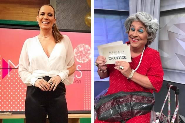 Regina Volpato e Gulherme Uzeda, a Tia, do programa Mulheres da TV Gazeta