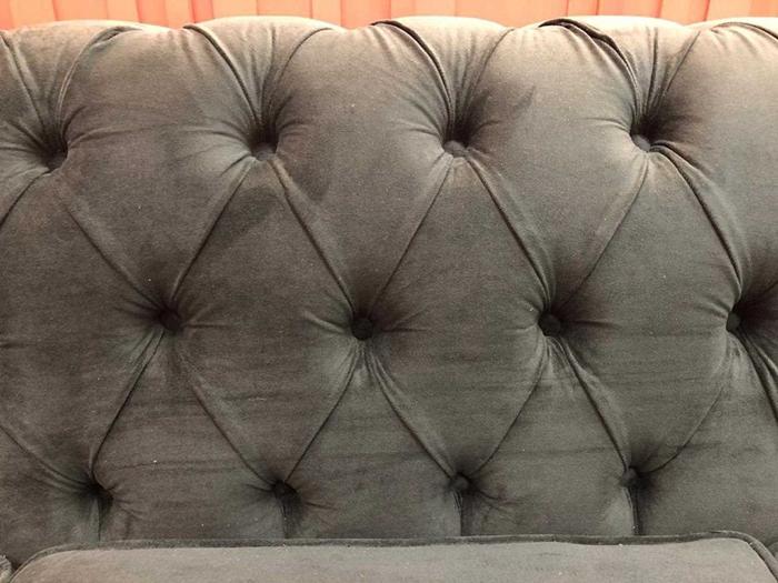 O sofá da casa do BBB19, que será verde (Foto: Globo)