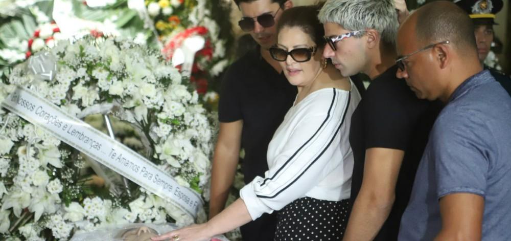 Sonia Lima se despediu do marido (Foto: Reprodução)