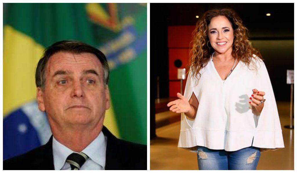 Jair Bolsonaro foi criticado em nova música de Daniela Mercury (Foto: Montagem)