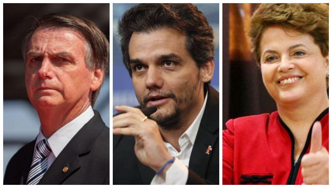 Wagner Moura teceu suas críticas a Bolsonaro e falou de Dilma Rousseff (Foto: Reprodução/Montagem)