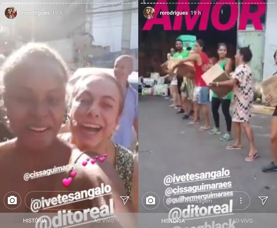 Roberta Rodrigues mostra alimentos doados por Ivete Sangalo (Foto: Reprodução/Instagram Stories)