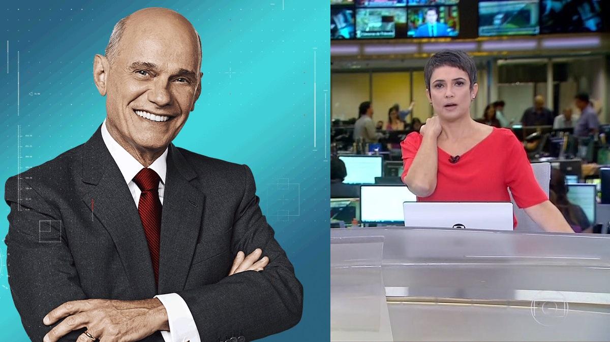 Sandra Annenberg ficou emocionada com a morte de Ricardo Boechat (Foto: Reprodução/ Globo)