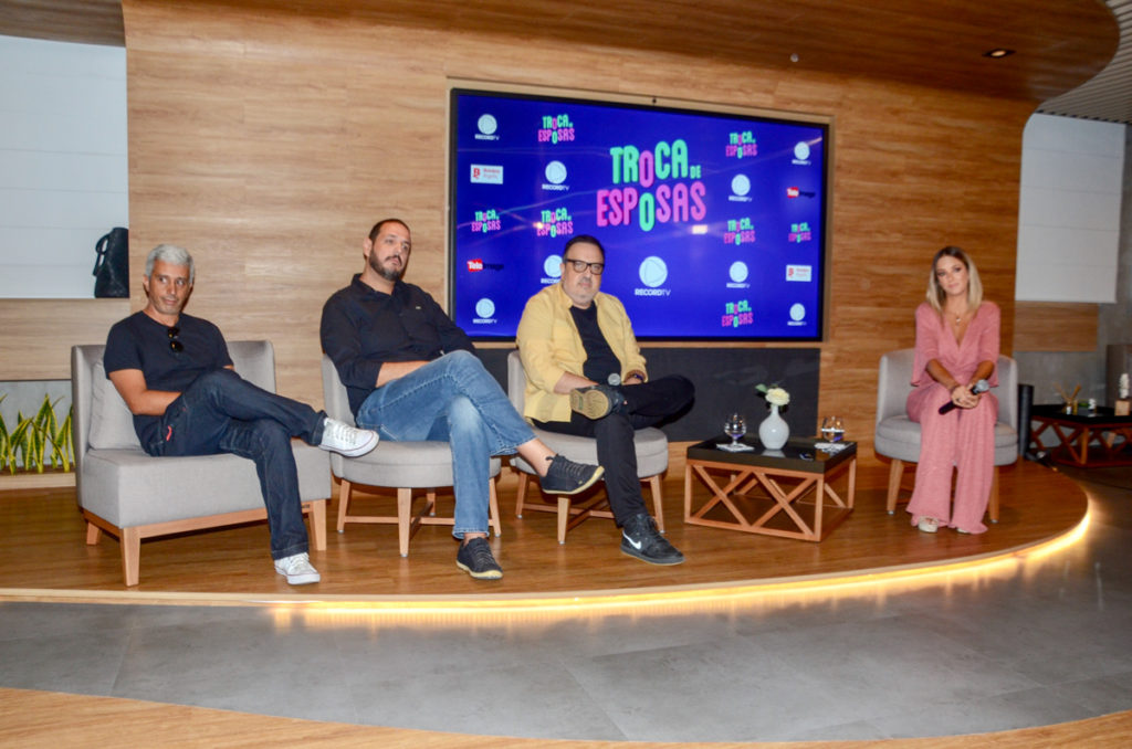 Ticiane Pinheiro conversou com a imprensa sobre o lançamento do Troca de Esposas na Record (Foto AgNews)