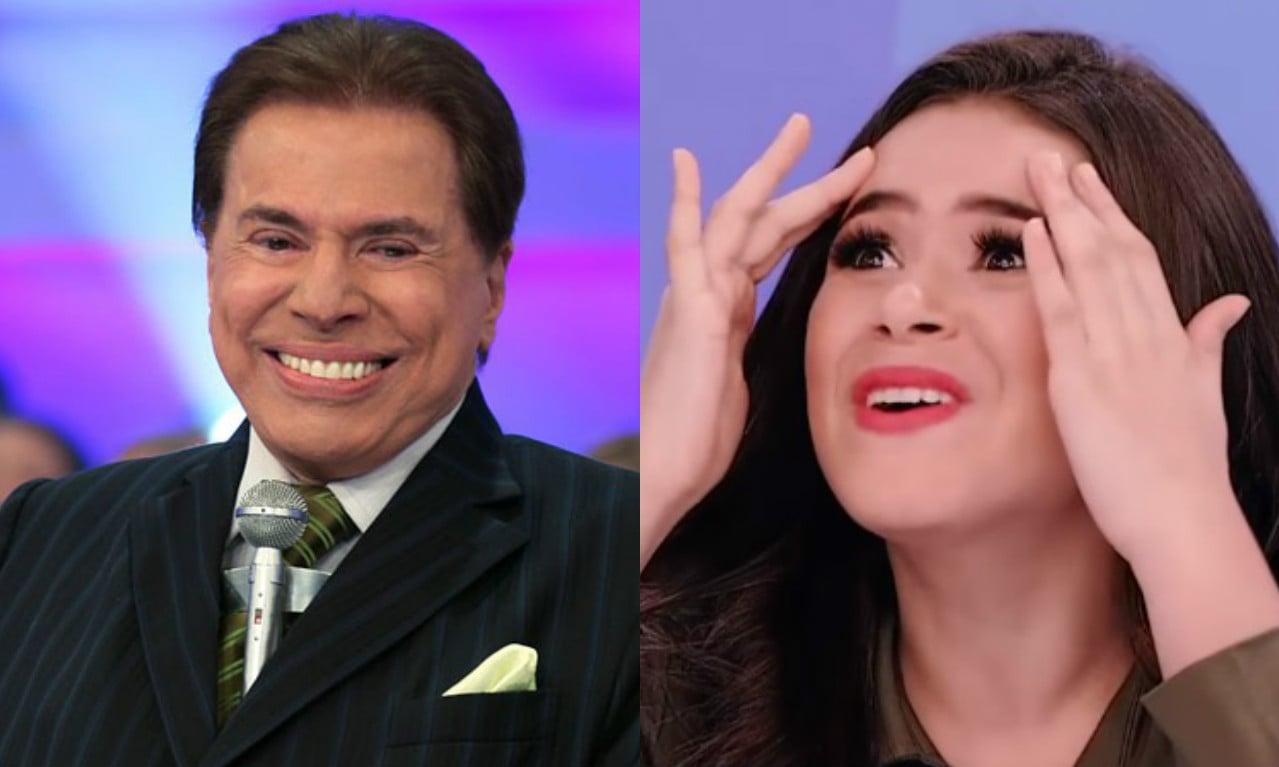 Silvio Santos e Maisa Silva são apresentadores do SBT (Foto: Divulgação)