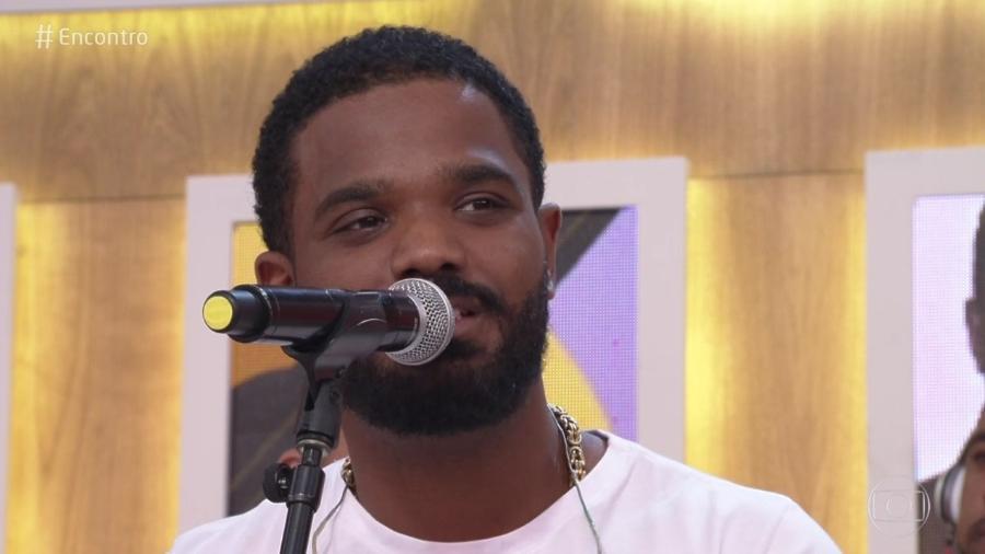 Arlindinho, filho de Arlindo Cruz, esteve no Encontro (Foto: Reprodução/Globo)