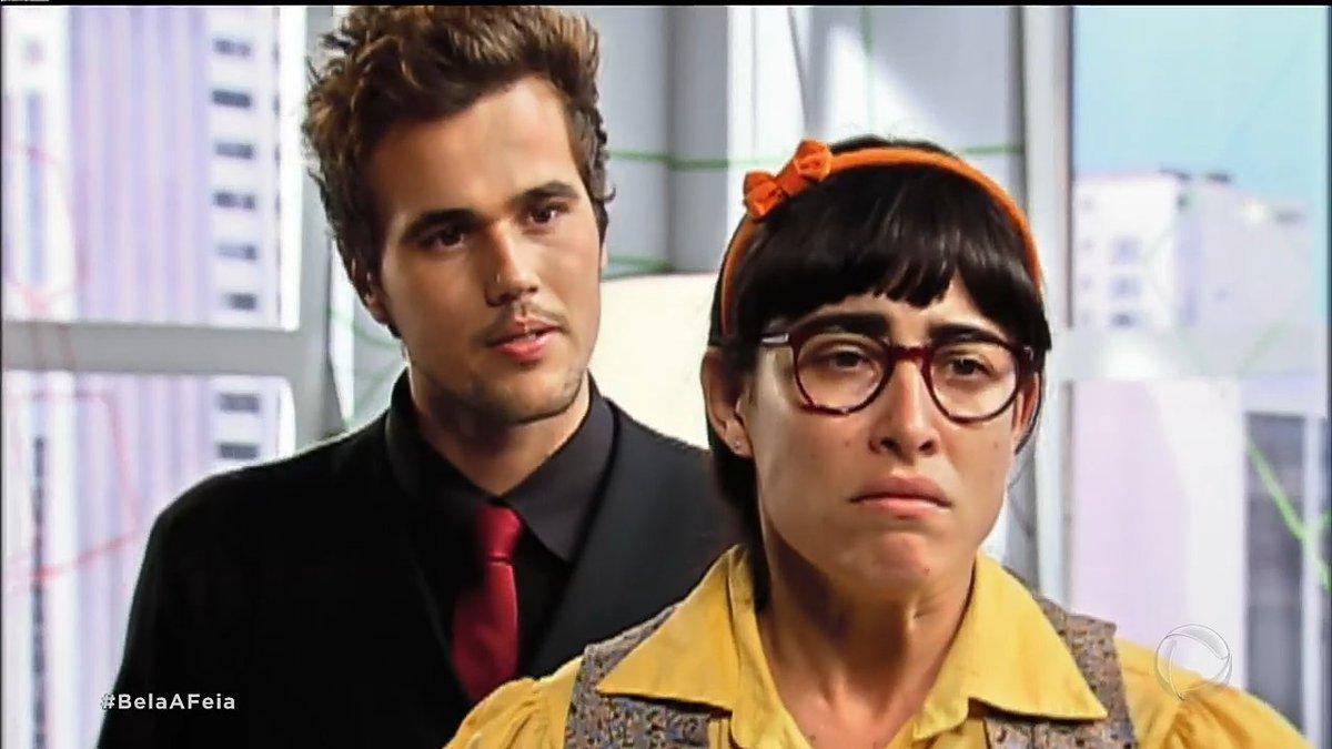 Bela (Gisele Itié) e Rodrigo (Bruno Ferrari) em cena da novela Bela, a Feia da Record<br /> (Foto: Reprodução)