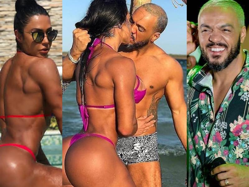 Belo e Gracyanne Barbosa. (Foto: Reprodução)