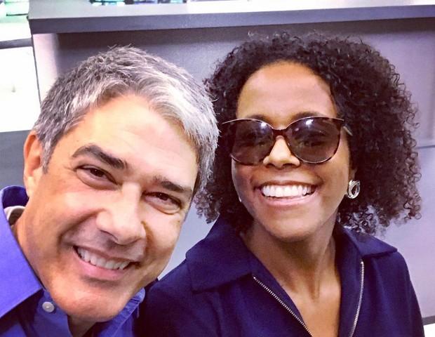 William Bonner e Maju Coutinho (Foto: Reprodução)