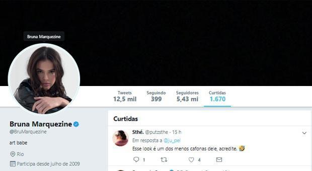 Bruna Marquezine curte post que chama Neymar de 'cafona'
