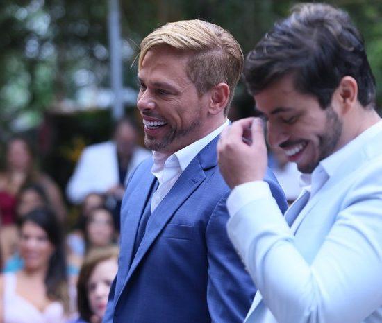 Casamento de Bruno Chateaubriand e Diogo Bocca (Foto: Anderson Borde/AgNews)