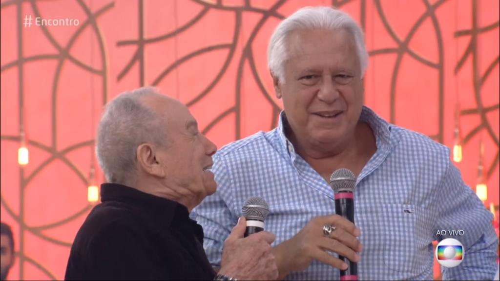 Antonio Fagundes e Stênio Garcia no Encontro da Globo (Foto: Reprodução)