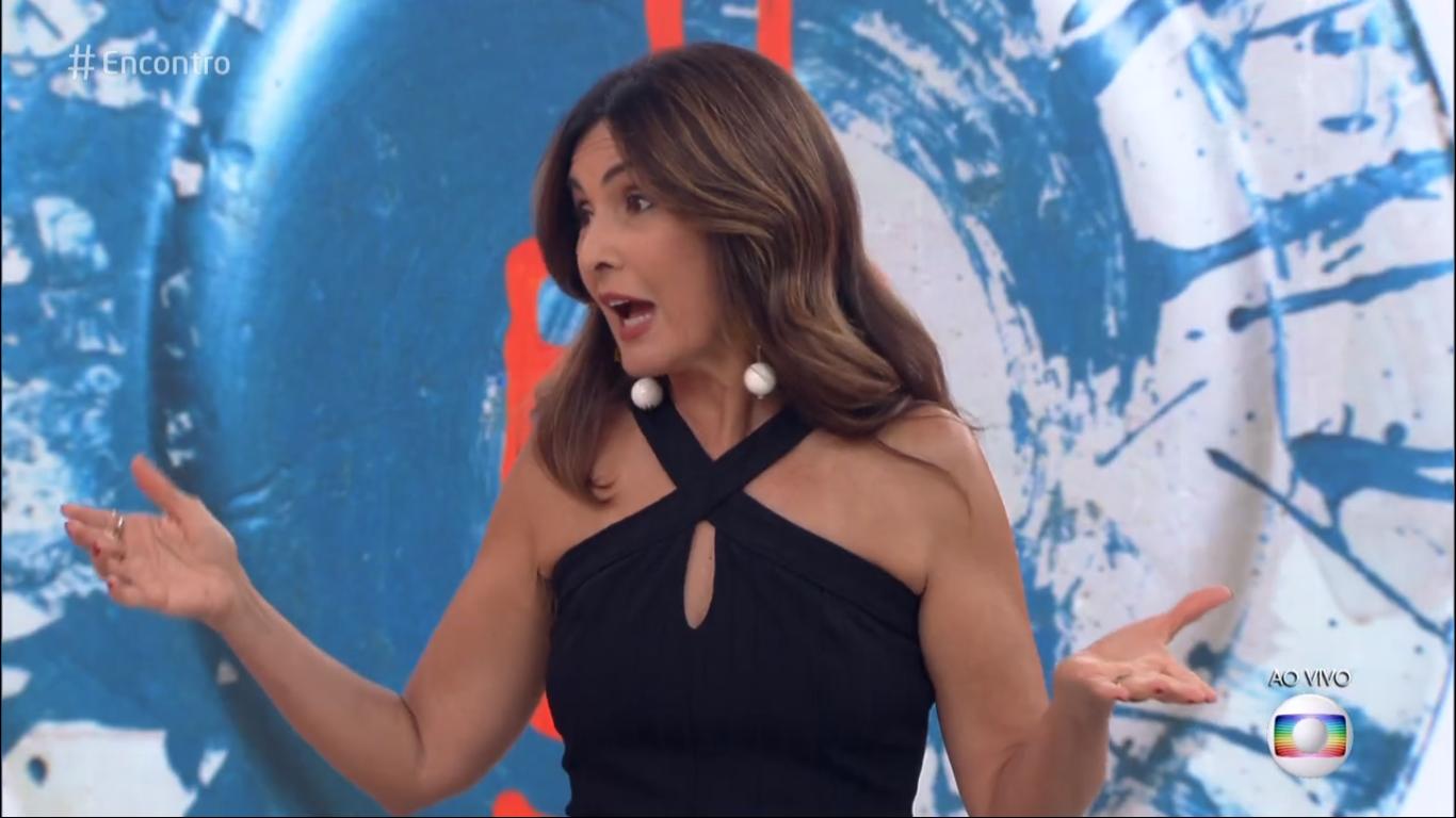 Fátima Bernardes rebateu Lair Rennó na Globo (Foto: Reprodução)