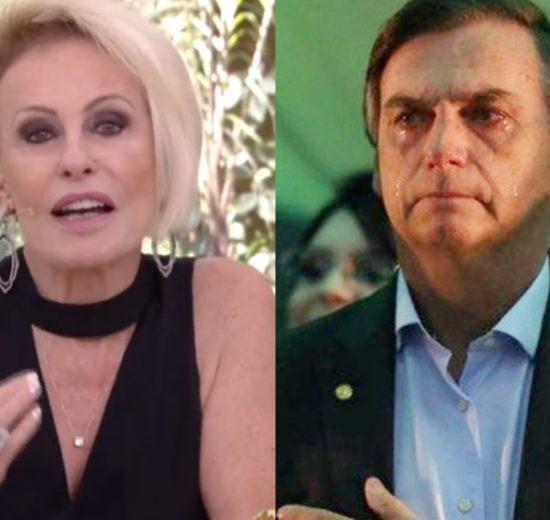 Ana Maria Braga e Jair Bolsonaro na Globo (Foto: Reprodução)
