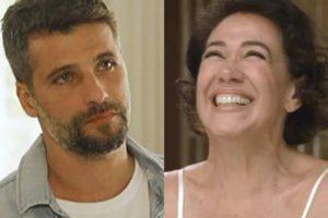 Gabriel e Valentina em O Sétimo Guardião (Foto: Reprodução)