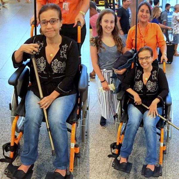 Claudia Rodrigues no aeroporto (Foto: AgNews)