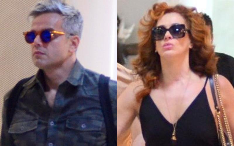 Otaviano Costa e Claudia Raia deixaram o Rio de Janeiro (Foto: Reprodução)