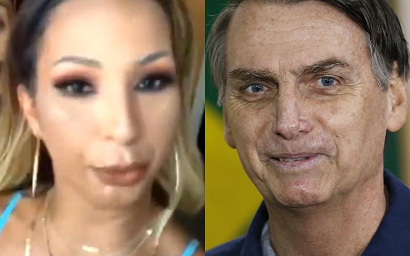 Valesca Popozuda e Jair Bolsonaro (Foto: Reprodução)